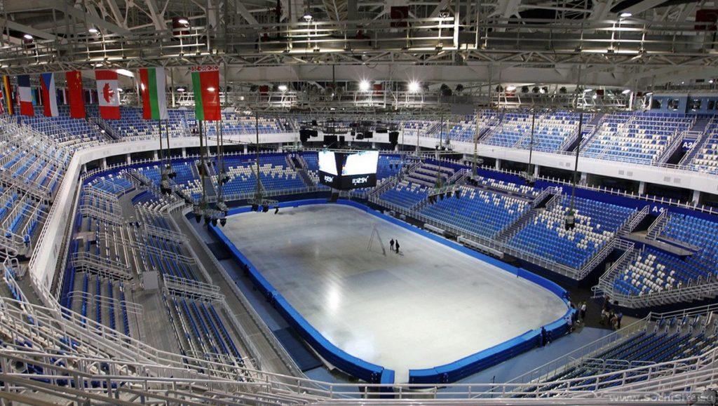Дворей зимнего спорта Айсберг трибуны