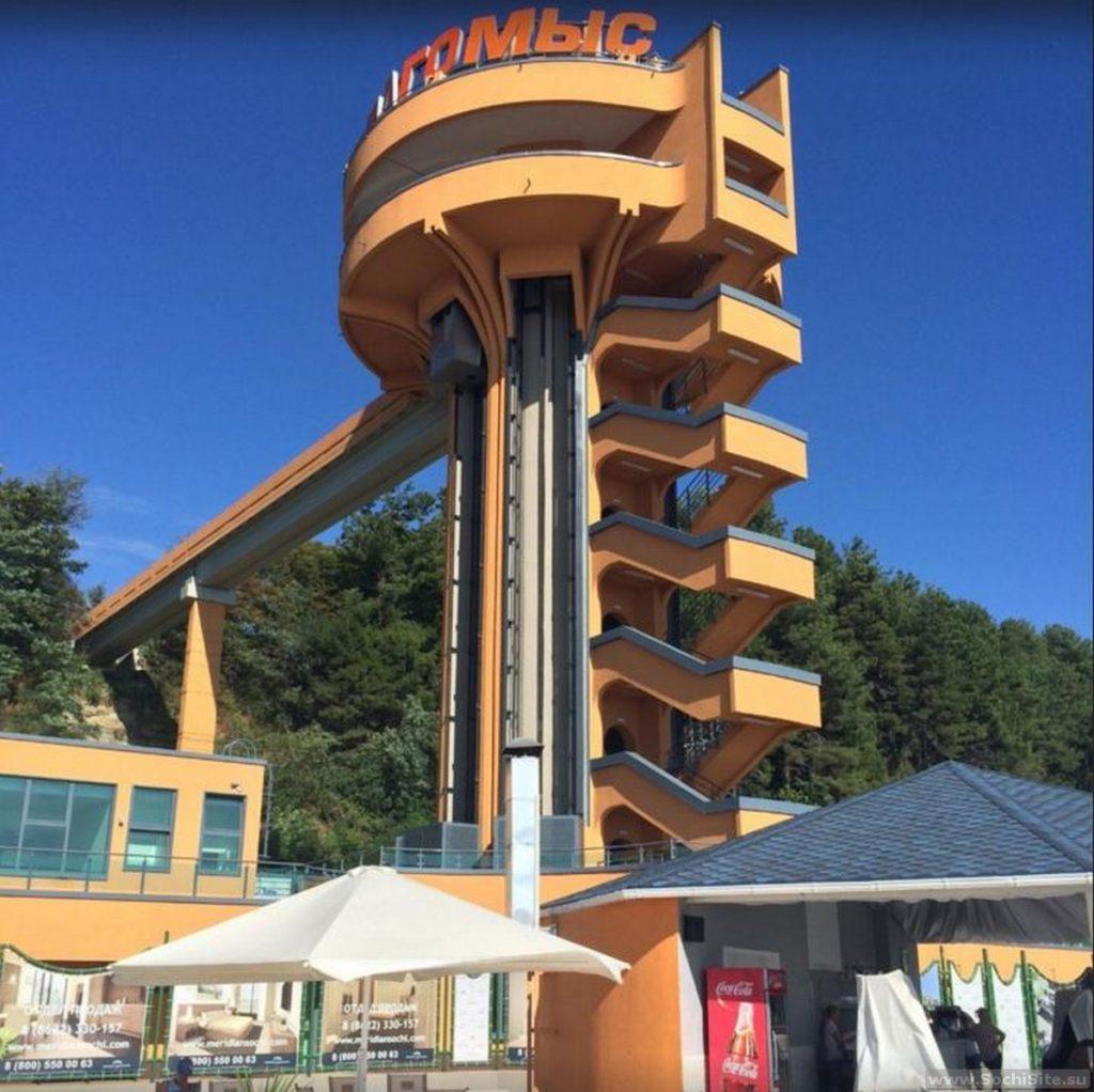 Олимпийский Дагомыс - лифт на пляж