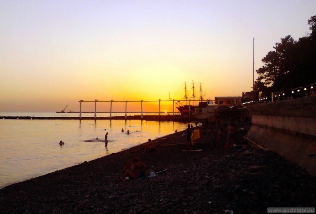 Пляж Солнечный на закате