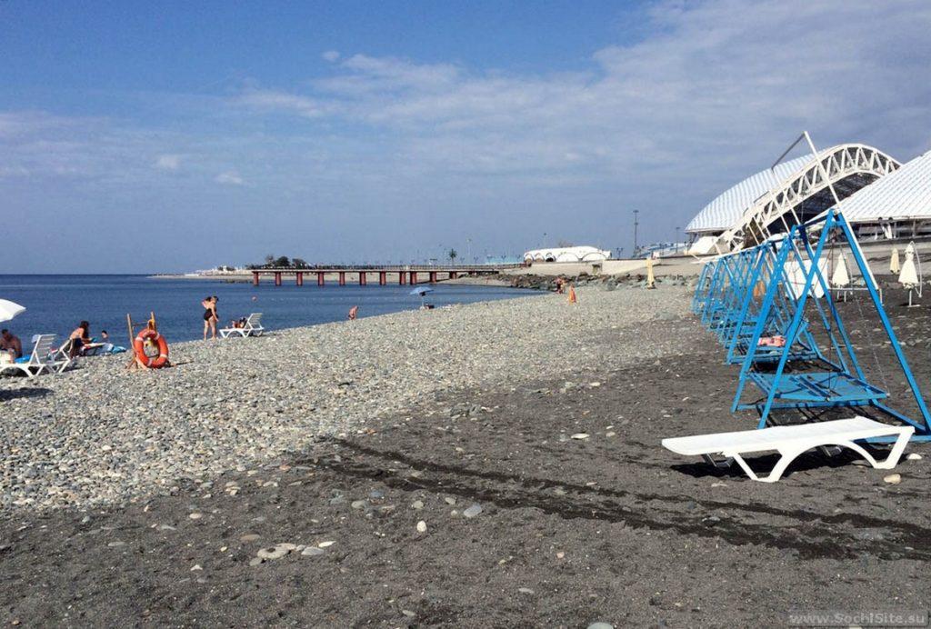Пляж Богатырь в межсезонье