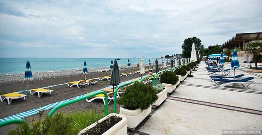 Пляж Одиссея Лазаревское Сочи