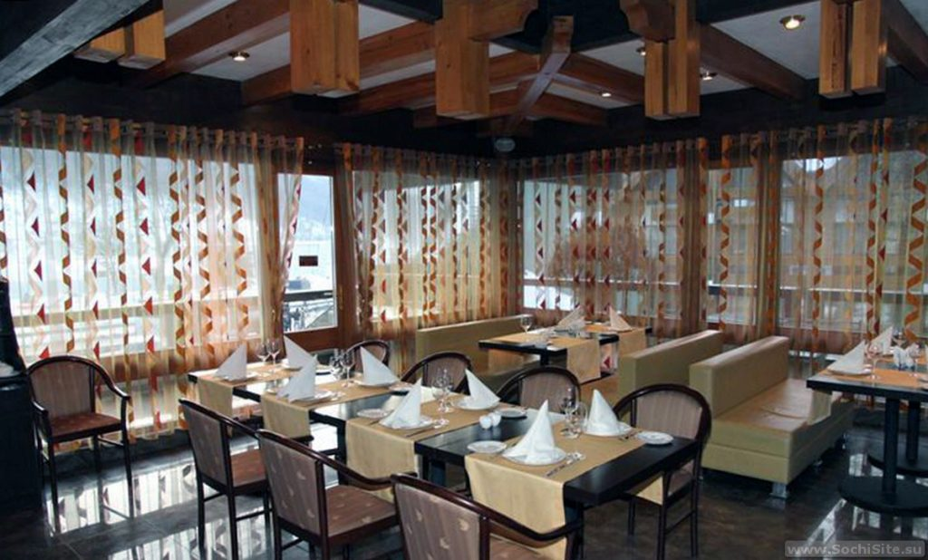 Ресторан Поляна Сочи - интерьер