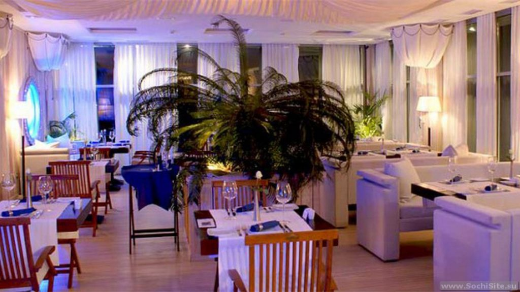 Ресторан Синее море - интерьер