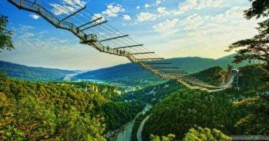 Скай парк Сочи - мост