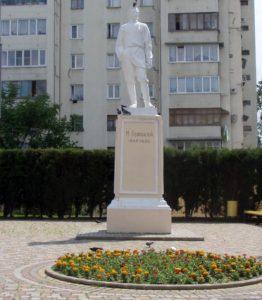 Памятник Горькому в Сочи - до реставрации