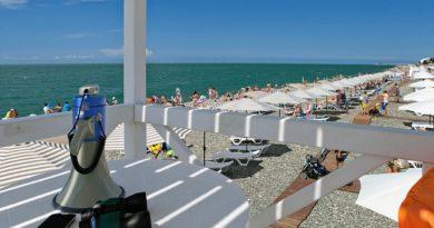 Пляж Бархатные Сезоны Сочи - панорама