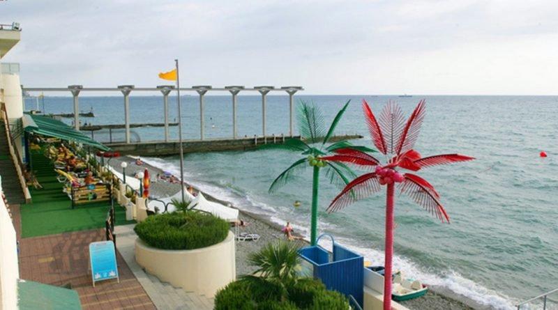 Пляж санатория Октябрьский