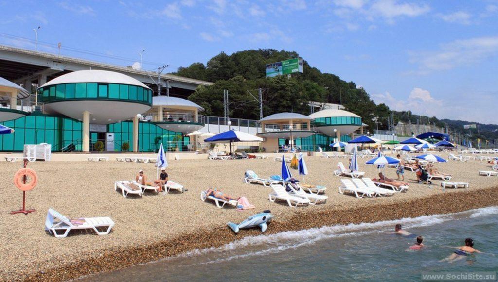 Пляж гостиницы Спутник Сочи