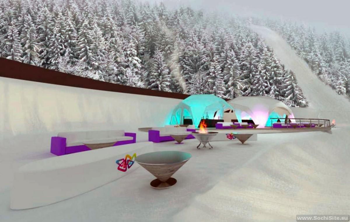Ски-бар OZERO - лучший отдых после лыж на Роза Хутор