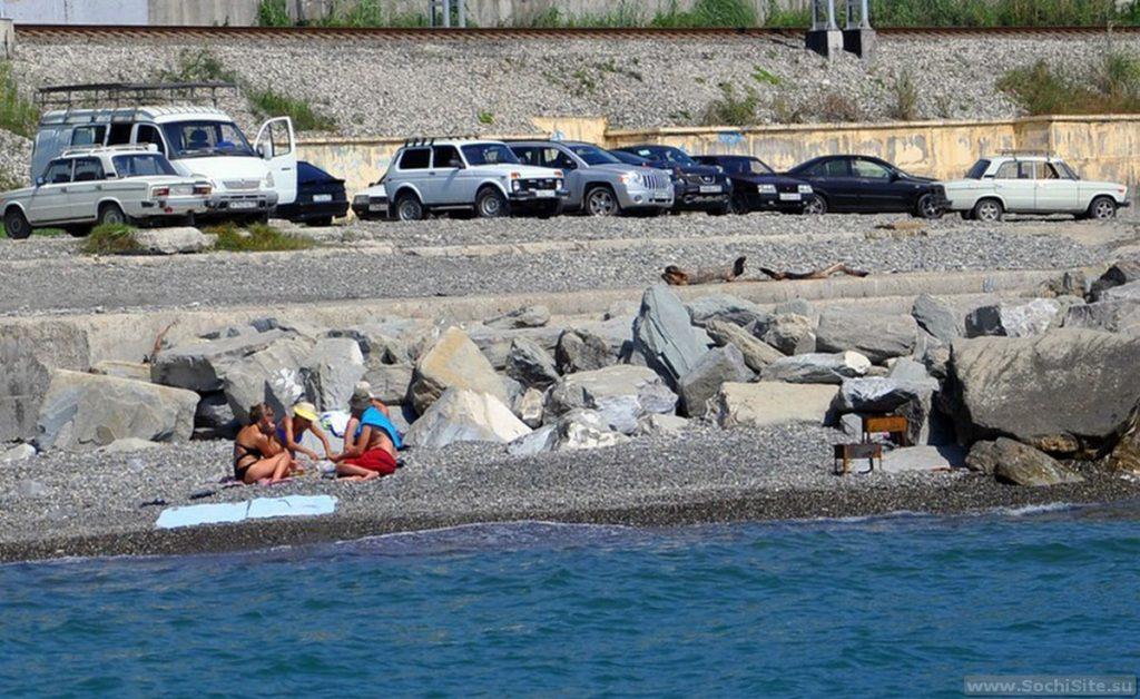 Парковка на пляже Красный штурм