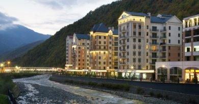 Апартаменты Valset от Azimut - вид с реки Мзымта