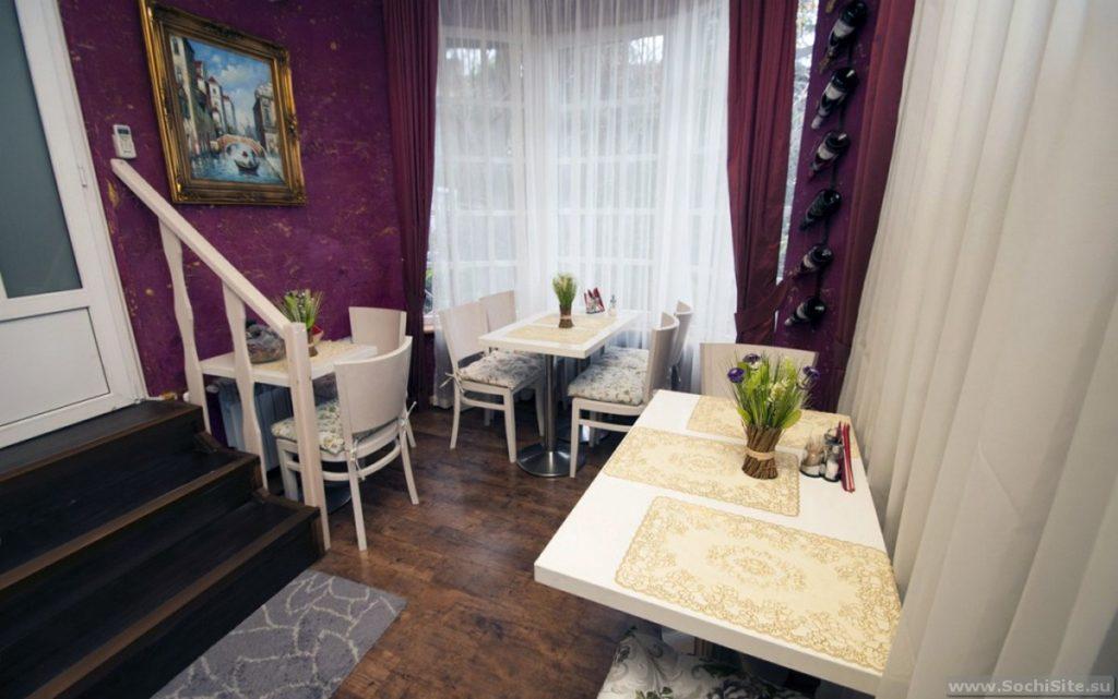 Ресторан в гостинице Катюша Сочи