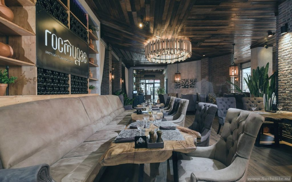 Интерьер ресторана Гостидзе